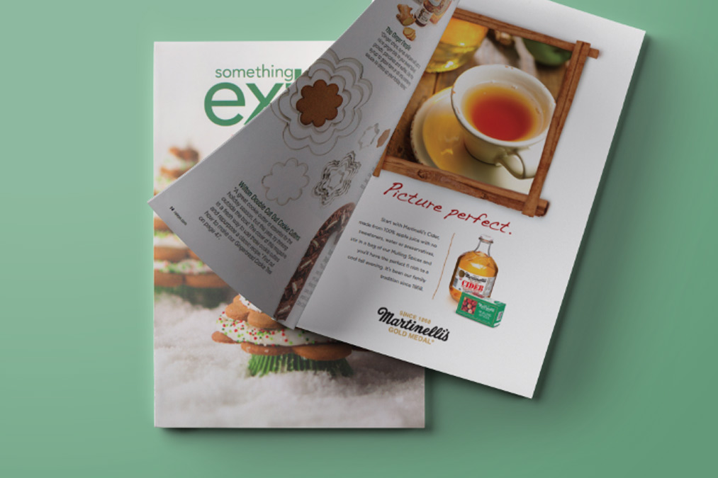 Martinelli's Fall Ad for Something Extra Magazine